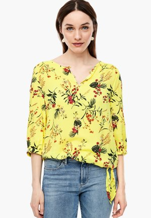 Blouse - yellow aop flowers