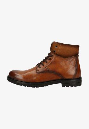 Lace-up ankle boots - cognac / cognac 6363