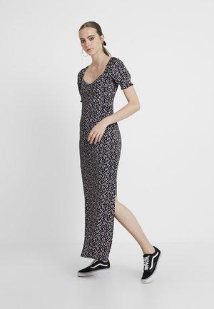 MAXI FLORAL PRINT DRESS - Maksimekko - black