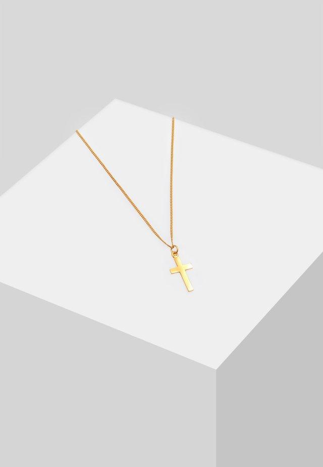 KREUZ - Necklace - gold