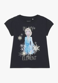 Name it - NKMFROZEN TEA - Print T-shirt - dark sapphire - 0
