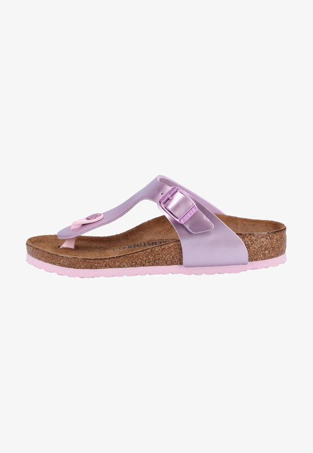 GIZEH - T-bar sandals - purple