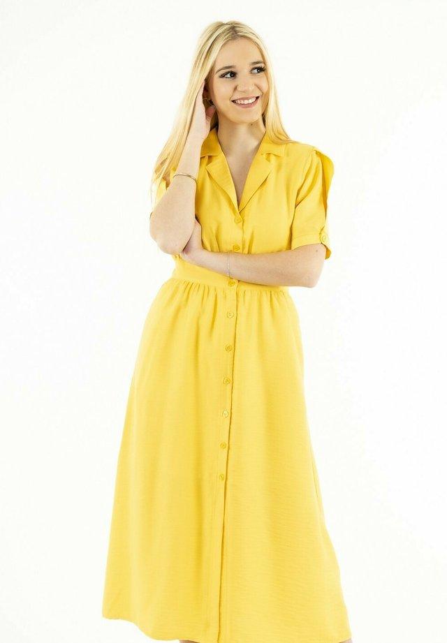 Robe chemise - jaune