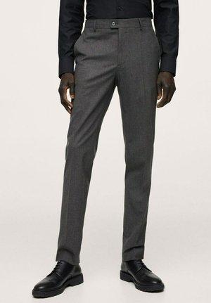 SLIM FIT - Oblekové kalhoty - grau