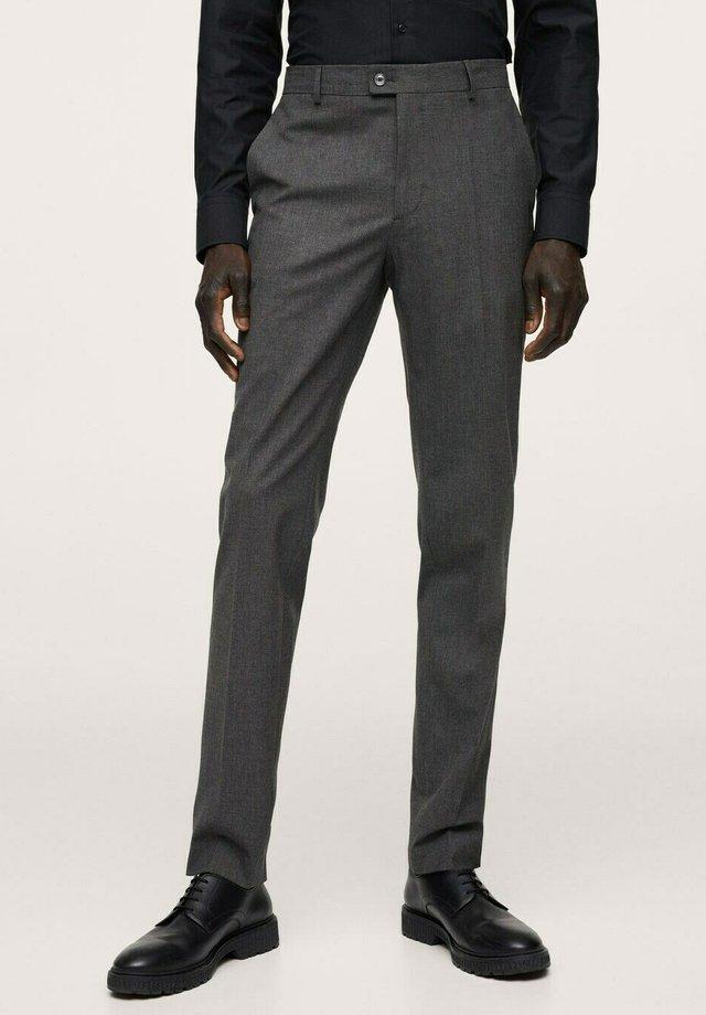 SLIM FIT - Suit trousers - grau