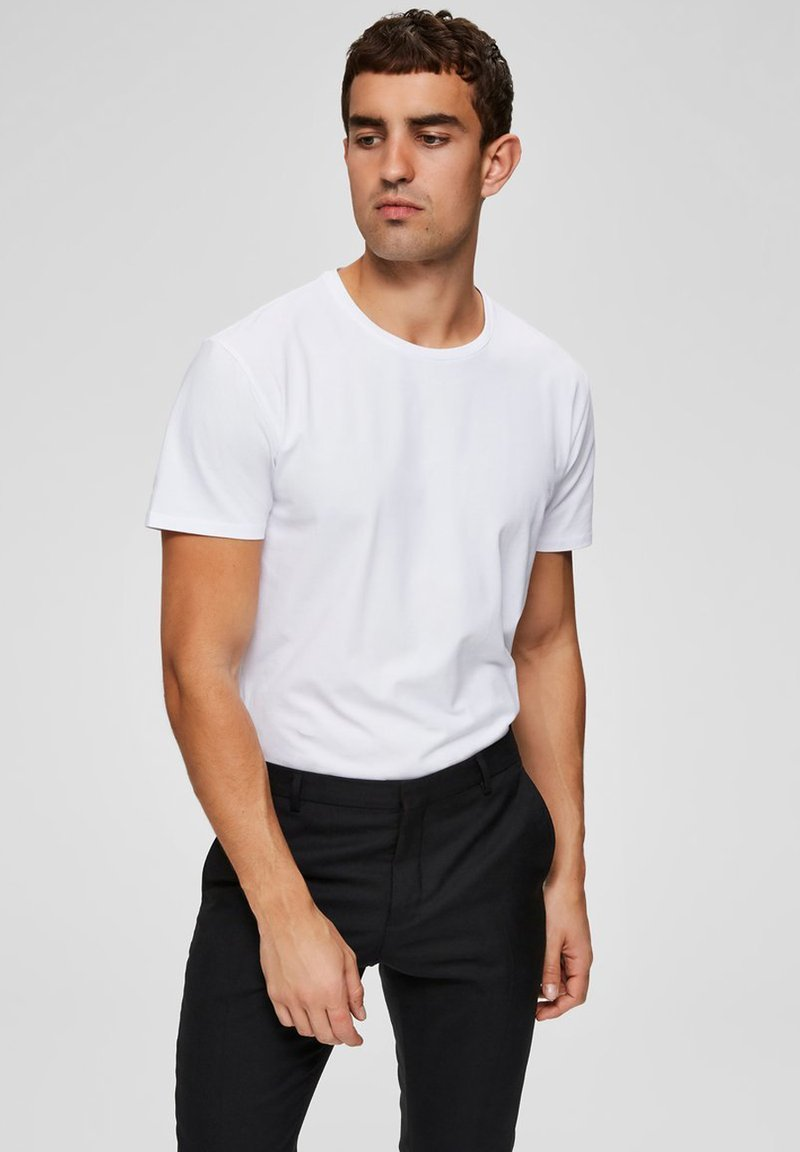 Selected Homme - Basic T-shirt - bright white