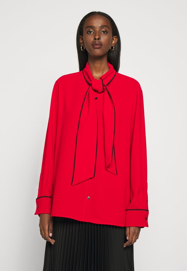 OTTILIE BLOUSE - Button-down blouse - bright red