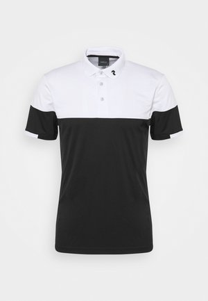 PLAYER BLOCK - Polo shirt - black/white