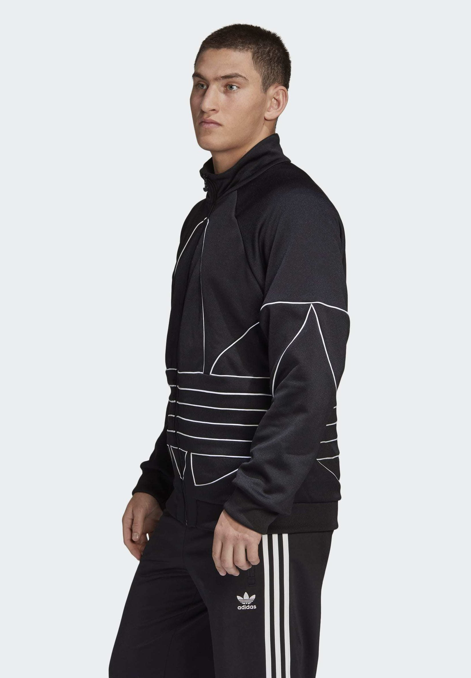 Adidas Originals Big Trefoil Outline Track Top - Kurtka Sportowa Black