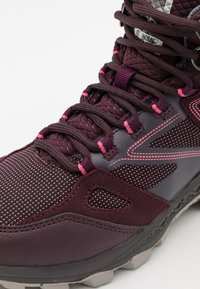Jack Wolfskin - DOWNHILL TEXAPORE MID - Hiking shoes - burgundy/pink - 5