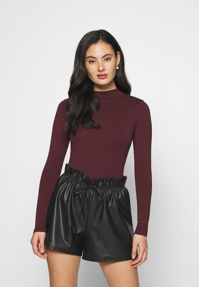 TURTLE NECK - Topper langermet - dark burgundy