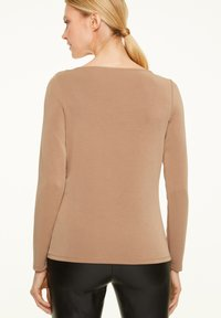 comma - Long sleeved top - chocolate camel - 1