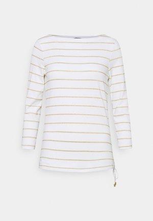 Langarmshirt - white/gold