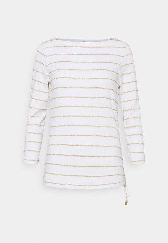 Bluzka z długim rękawem - white/gold