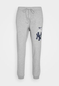 Nike Performance - NEW YORK YANKEES COLOR BAR CLUB JOGGERS - Club wear - dark grey heather - 4