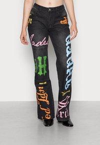 Jaded London - SCREEN LOW RISE - Jeans a zampa - multi - 0