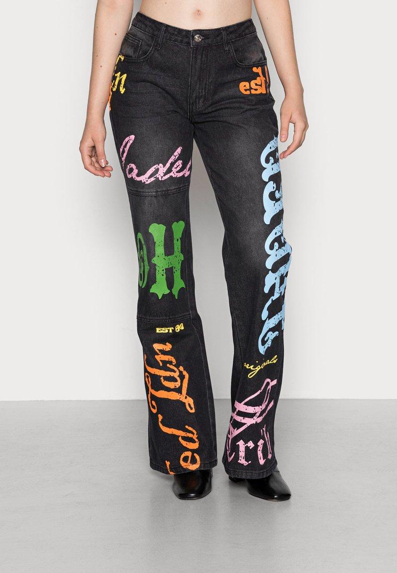 Jaded London - SCREEN LOW RISE - Jeans a zampa - multi