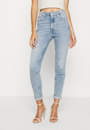 HIGH RISE SKINNY - Jeans Skinny - light blue