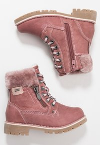 TOM TAILOR - Lace-up ankle boots - rose - 0