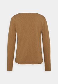 Marc O'Polo DENIM - LONG SLEEVE CREW NECK RELAXED FIT - Long sleeved top - milky coffee - 1