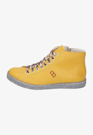 Šněrovací kotníkové boty - gelb