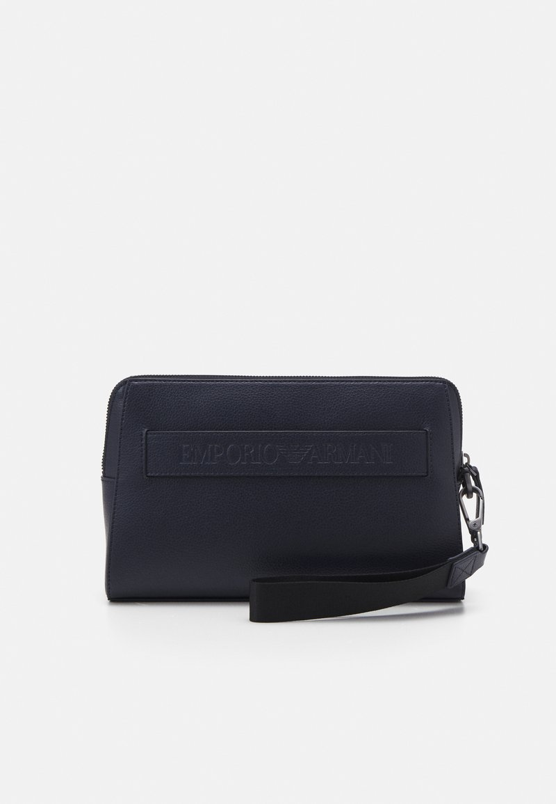 Emporio Armani - BEAUTY BAG UNISEX - Wash bag - navy
