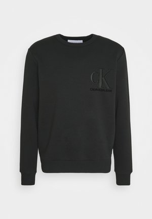 MATTE AND FLOCK MONOGRAM UNISEX - Bluza - black