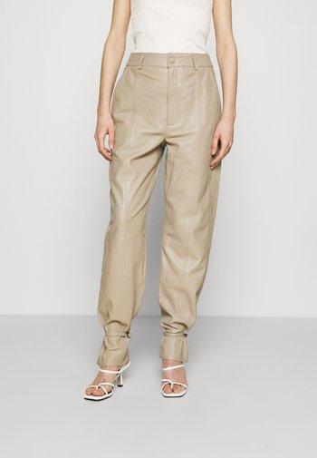 NIO - Leather trousers - pure cashmere