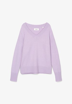 LONG SLEEVE V NECK - Jumper - peached purple