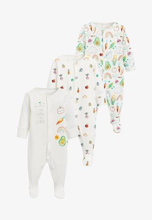 3 PACK VEGETABLE PRINT SLEEPSUITS - Pyjamas - off-white