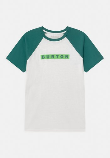VAULT SHORT SLEEVE UNISEX - Print T-shirt - stout white/antique green