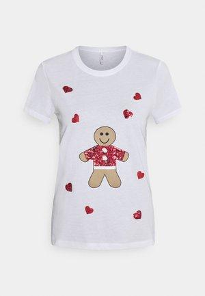 ONLYRSA CHRISTMAS - Print T-shirt - bright white
