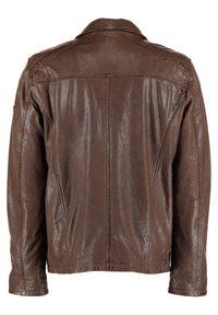 DNR Jackets - MIT TASCHEN UND REISSVERSCHLUSS - Leather jacket - brown - 1