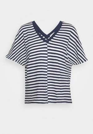 DROP - Print T-shirt - navy