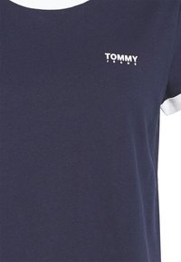 Tommy Jeans - LOGO RINGER TEE - Print T-shirt - blue - 2