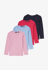 Blue Seven - KIDS BASIC MULTI 4 PACK - Long sleeved top - hell blau/hochrot/mauve/nachtblau - 5