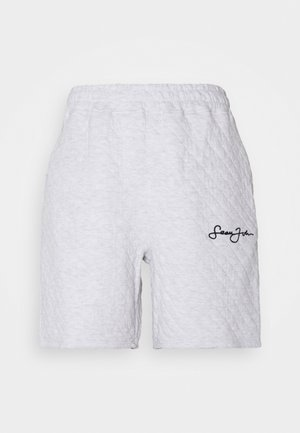 QUILTED LONG LINE - Shorts - grey marl