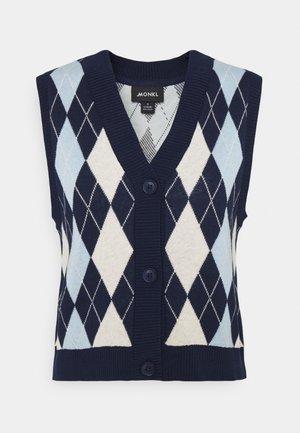 MAJA VEST - Waistcoat - navy/blue/offwhite