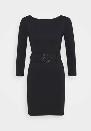 LOGO BELT DRESS FLY - Etuikjole - nero