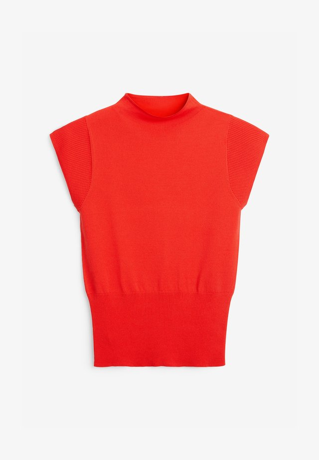 CAP SLEEVE - Sweter - red