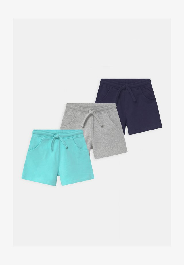 3 PACK - Shorts - grey/blue/dark blue