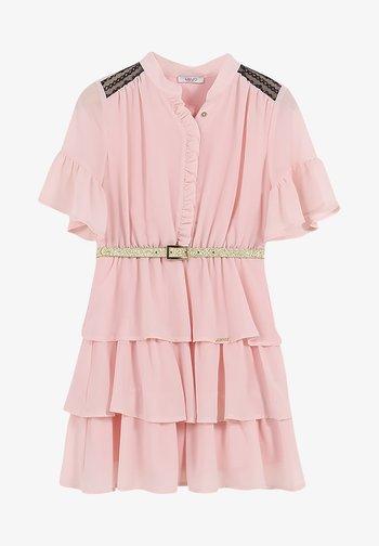 Shirt dress - pearl pink