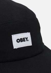 Obey Clothing - BOLD LABEL PANEL HAT UNISEX - Lippalakki - black - 3