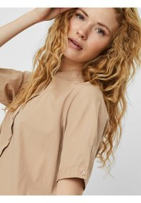 Vero Moda - VMDELTA DRESS - Shirt dress - beige - 4