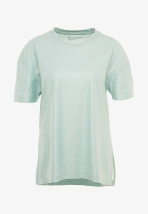 UNSTOPPABLE CIRE SIDE SLIT TUNIC - Camiseta estampada - green/onyx white