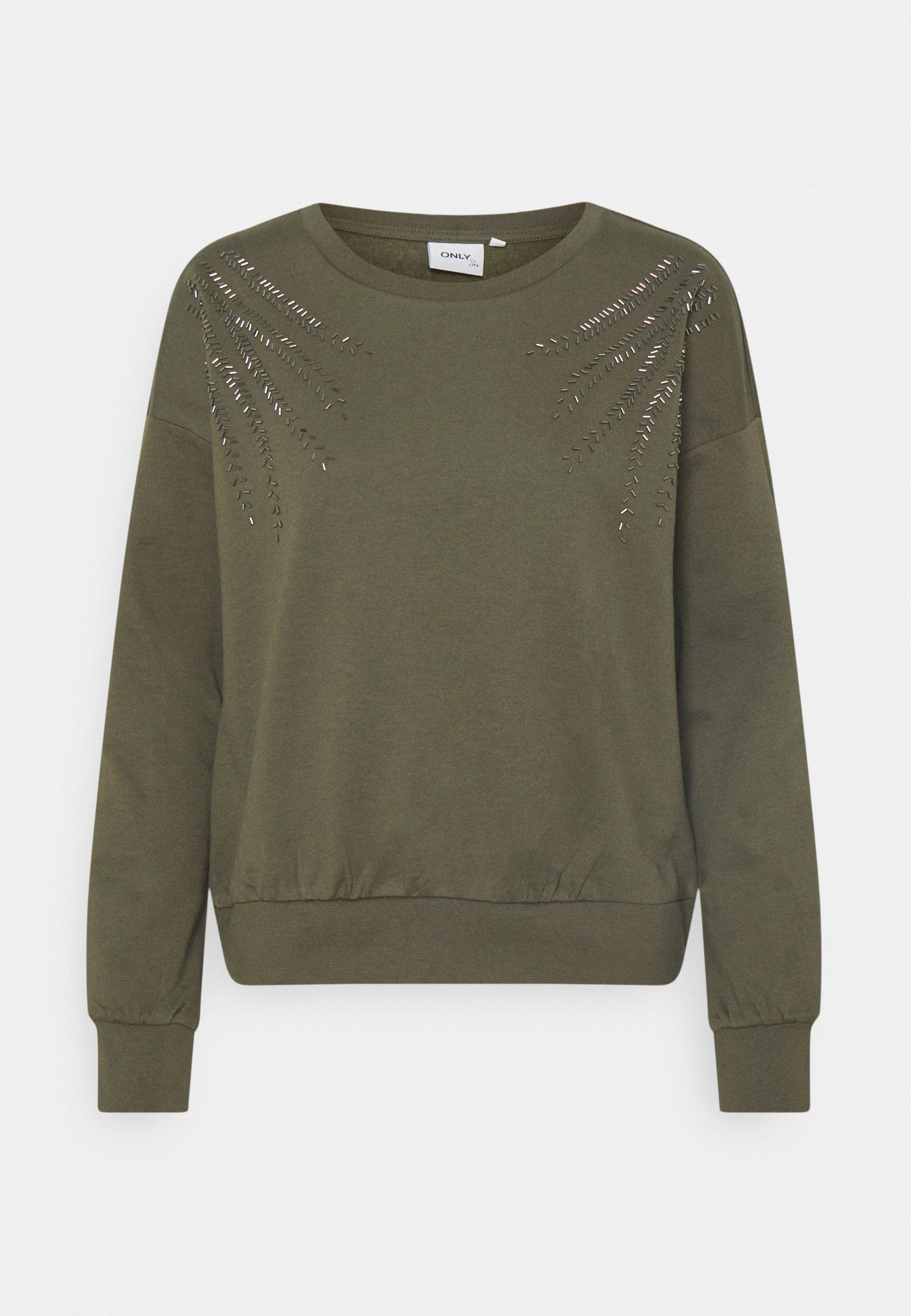 Women ONLLUXI LIFE LEAF ONECK - Sweatshirt
