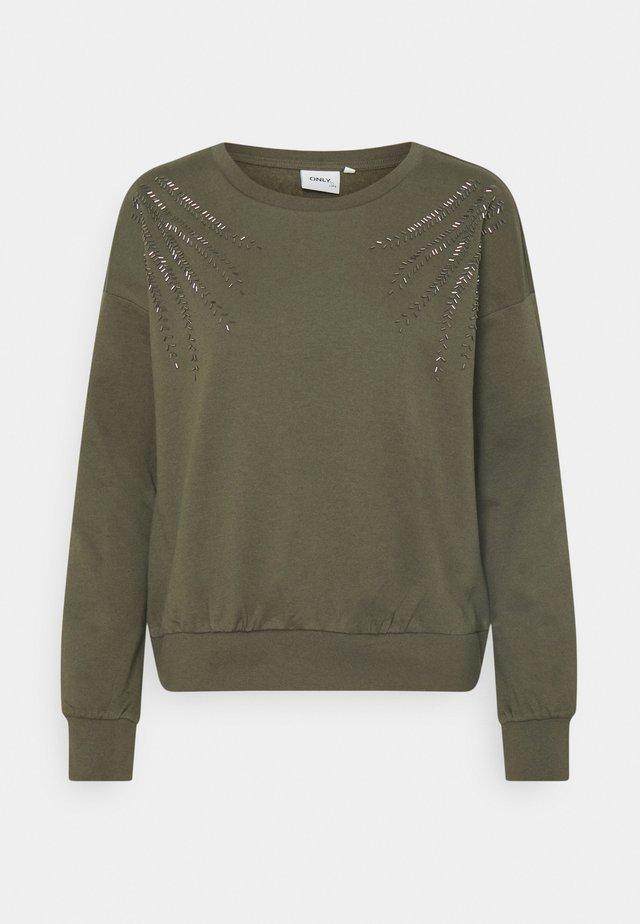 ONLLUXI LIFE LEAF ONECK - Sweater - kalamata