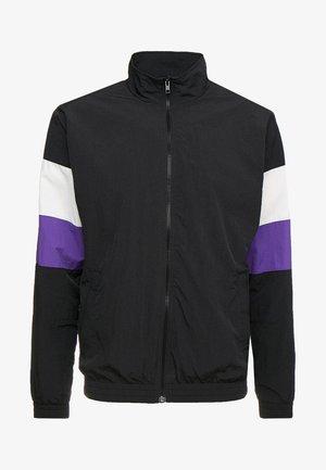 3-TONE CRINKLE TRACK JACKET - Summer jacket - black/white/ultraviolet