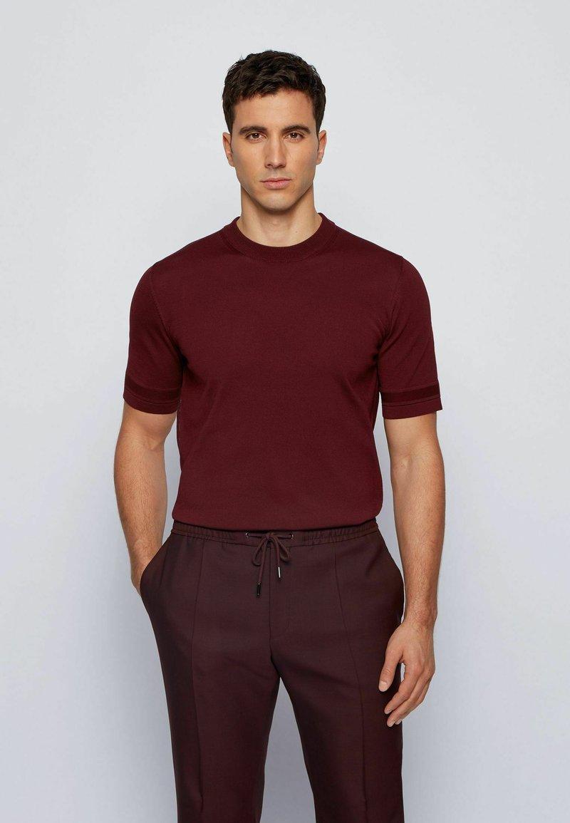 BOSS - IMATTEO - T-Shirt basic - dark red
