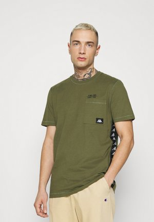 HELAN - T-shirt con stampa - winter moss